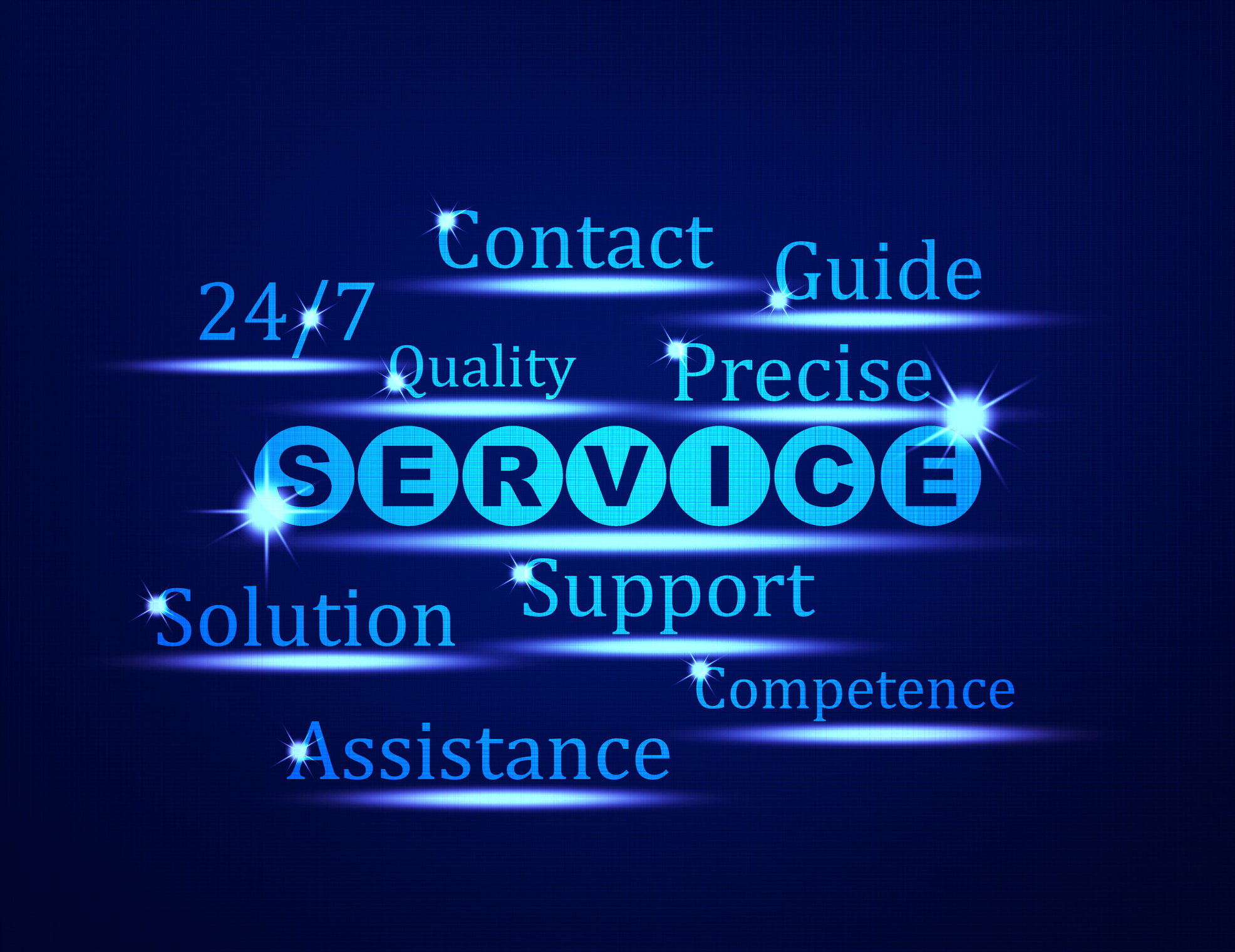 Service,Support,Assistance word concept